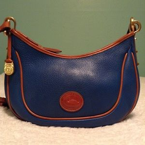Vintage Dooney & Bourke small Denim Crescent sac